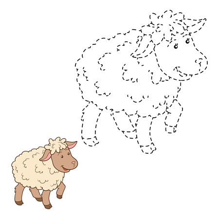 conundrum: Game for children: Connect the dots (sheep) Illustration