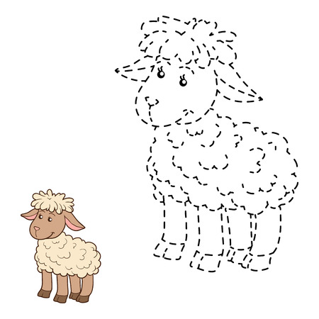 enigma: Game for children: Connect the dots (sheep) Illustration
