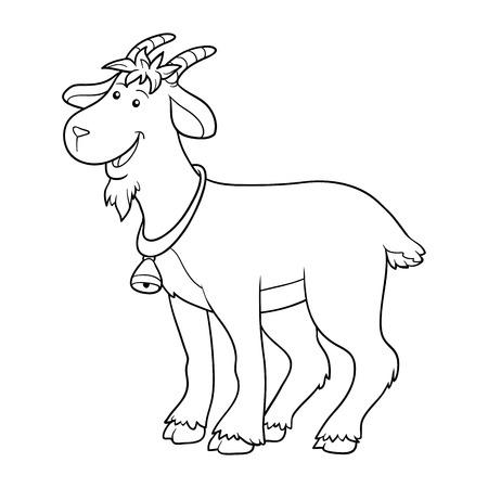 coloration: Game for children: Coloring book (goat) Illustration