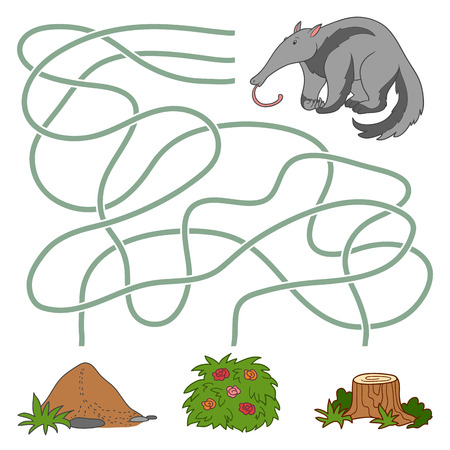 anthill: Game for children: Maze game (anteater and anthill)