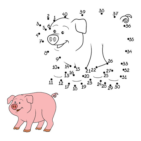 rotund: Game for children: Numbers game (pig)