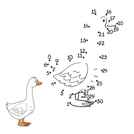 amusing: Game for children: Numbers game (goose)