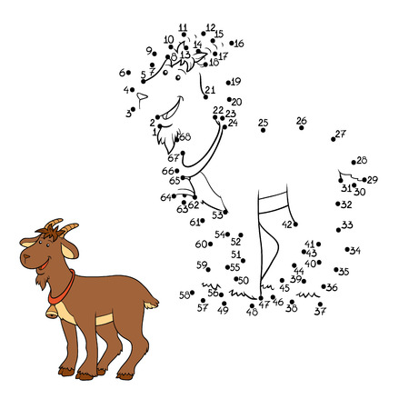 Game for children: Numbers game (goat) Vector