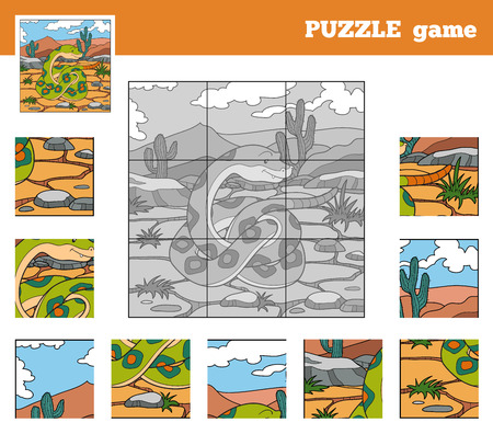 play poison: Puzzle Game for children with animals (snake)