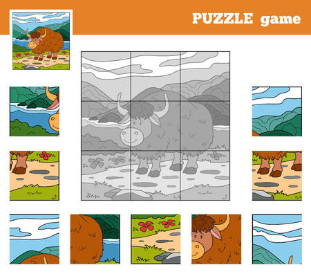 jersey: Puzzle Game for children with animals (yak)