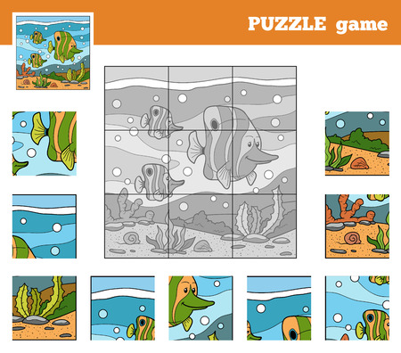 underworld: Puzzle Game for children with animals (fish family)
