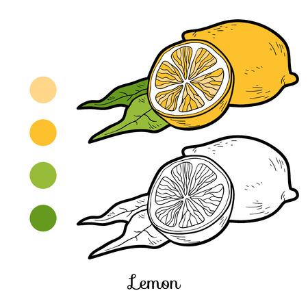 Libro Para Colorear Para Niños: Frutas Y Verduras (limón ...