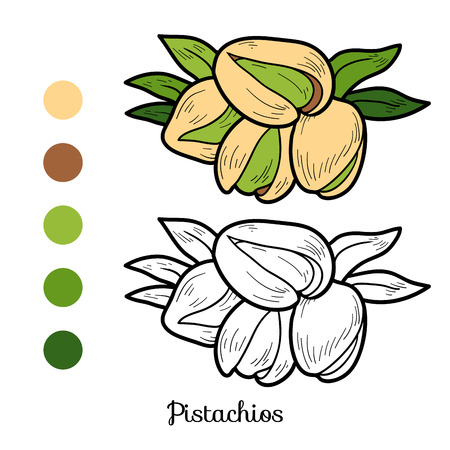 pistachios: Coloring book for children: fruits and vegetables (pistachios)