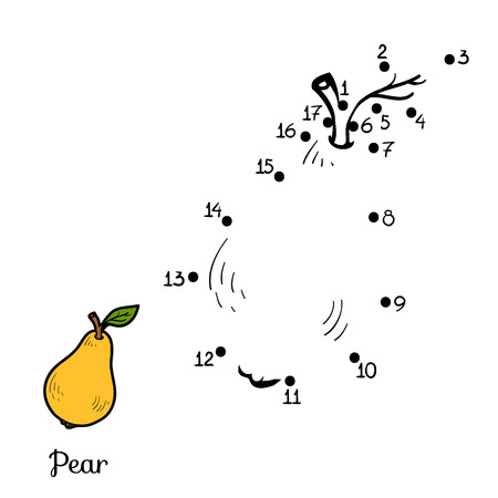 amuse: Numbers game for children: fruits and vegetables (pear)