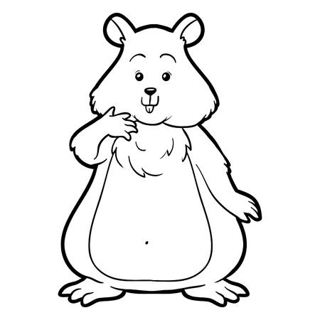 Hamster Bebé Ilustraciones Vectoriales, Clip Art Vectorizado Libre ...