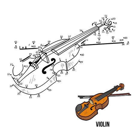 Numbers Game for children: musical instruments violin