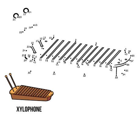 xilofono: N�meros de juegos para ni�os: instrumentos musicales xil�fono Vectores