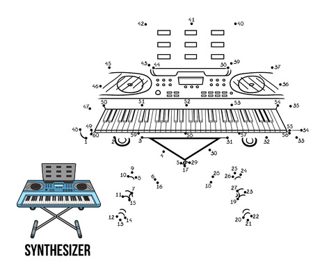 synthesizer: Numbers Game for children: musical instruments synthesizer