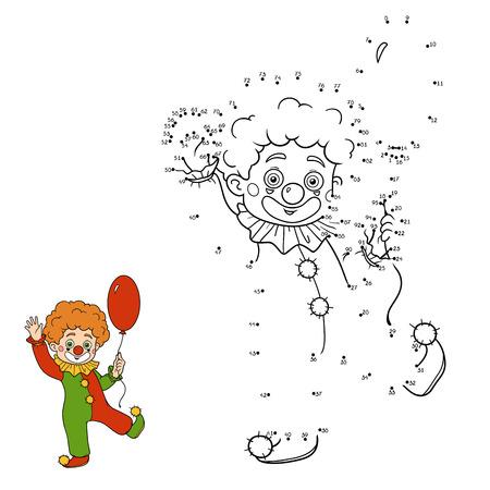 payaso: Números de juegos para niños: personajes de Halloween (traje de payaso)