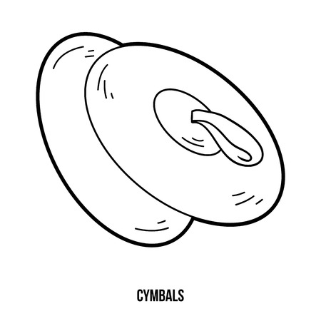Cymbals: Coloring book for children: music instruments (cymbals) Illustration