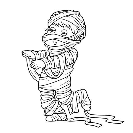 Libro De Colorear Para Niños: Personajes De Halloween (payaso Y ...