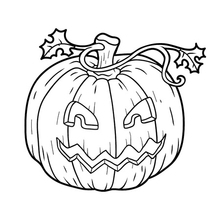 Coloring Book For Children: Halloween Pumpkin Royalty Free Cliparts ...