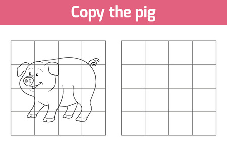 rotund: Copy the picture, education game: pig