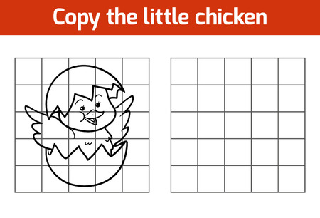 copy: Copy the picture, education game: chick