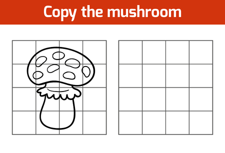 play poison: Copy the picture, education game: mushroom Illustration