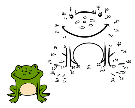 principe rana: Numbers game, education game for children (frog)