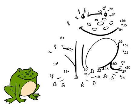 funny frog: Numbers game, education game for children (frog)