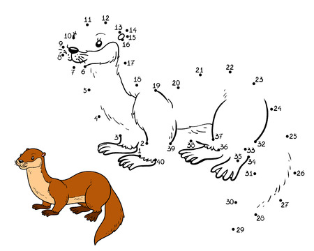 stoat: Numbers game, education game for children (otter)