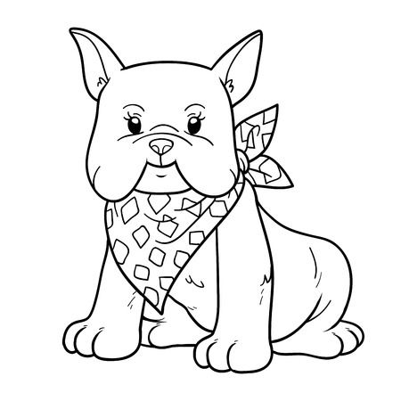 beautiful homes: Coloring book for children (french bulldog)