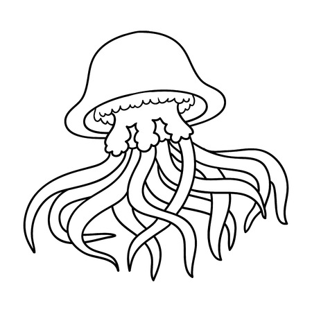 jellyfish: Coloring book for children (jellyfish) Illustration