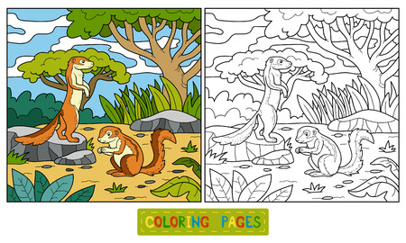 Coloring book for children (ground squirrel, xerus)