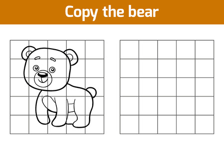 copies: Copy the picture, education game for children (bear) Illustration
