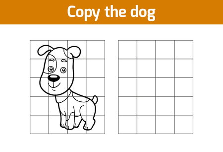 copies: Copy the picture, education game for children (dog)