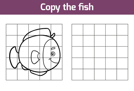 game fish: Copy the picture, education game for children (fish)