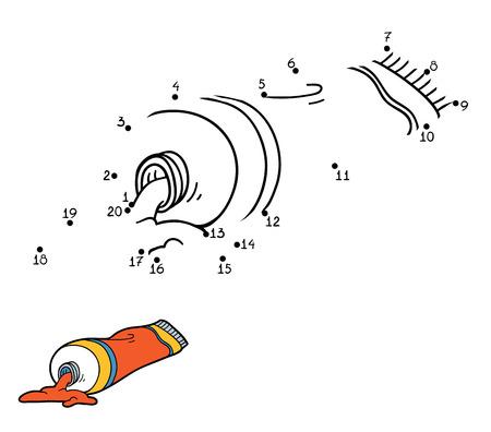 Malbuch, Bildung Spiel Für Kinder (Farbtuben) Lizenzfrei Nutzbare ...