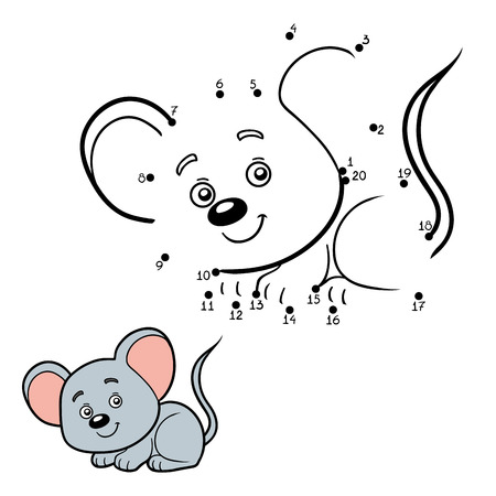numbers: Numbers game, education game for children (mouse) Illustration