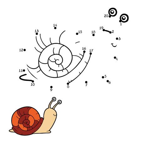 public aquarium: Numbers game, education game for children (snail)