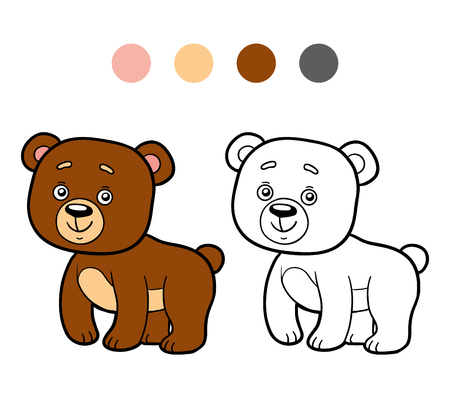 coloration: Coloring book for children (bear)