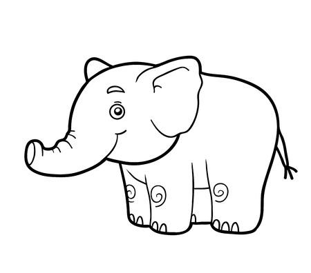 for children: Coloring book for children (elephant)