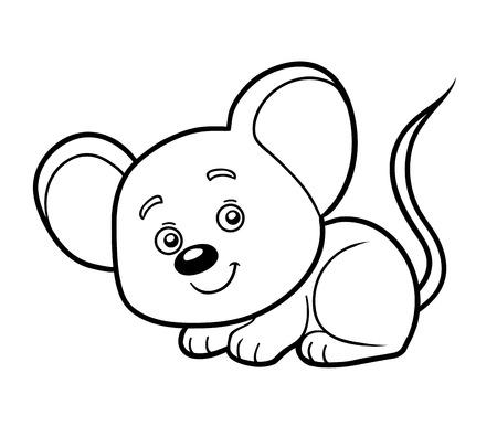 ratones: libro para colorear para los niños (ratón)