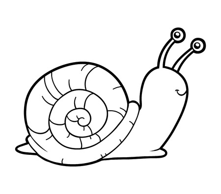 color page: Coloring book for children (snail)