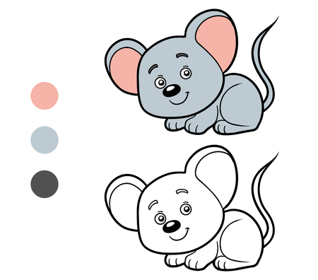 children book: Coloring book for children (mouse)