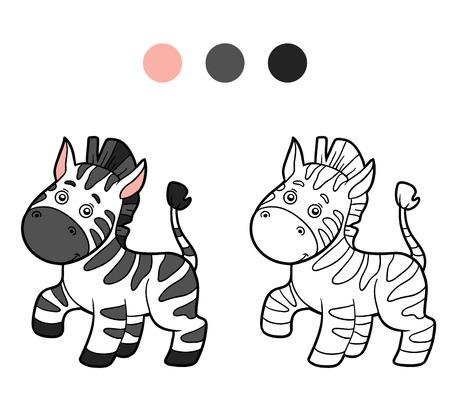Coloring book for children (zebra)