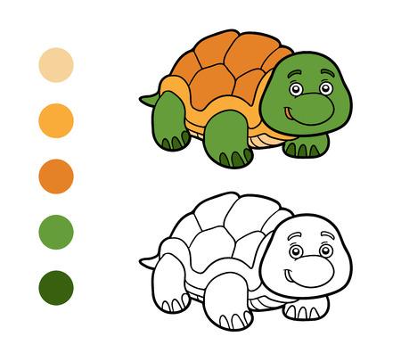 niños negros: libro para colorear para los niños (tortuga)