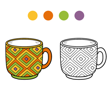 coloration: Coloring book, coloring page for children (cup) Illustration