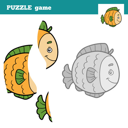 game fish: Puzzle Game for children (fish), education game