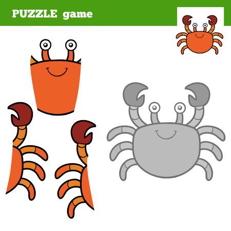 children crab: Puzzle Game for children (crab), education game