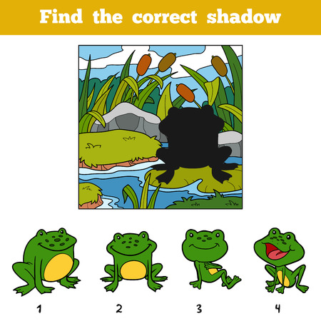 Find the correct shadow, education game for children. Find animal by shadow