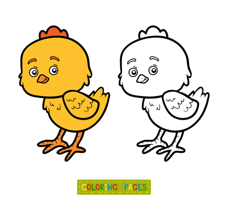 chick: Coloring book for children, coloring page with little chick Illustration