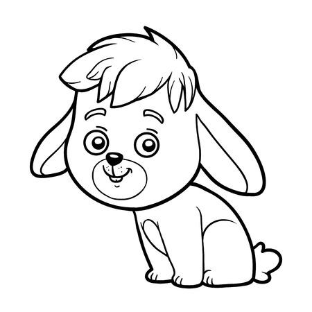 Libro Para Colorear Para Niños, Pequeño Conejo Y El Fondo ...