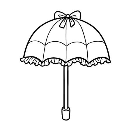 Libro De Colorante Para Los Niños, Paraguas Lindo Ilustraciones ...
